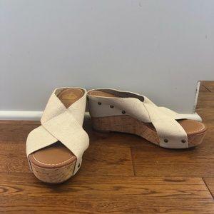 Crown Vintage Criss-Cross Wedge Sandals